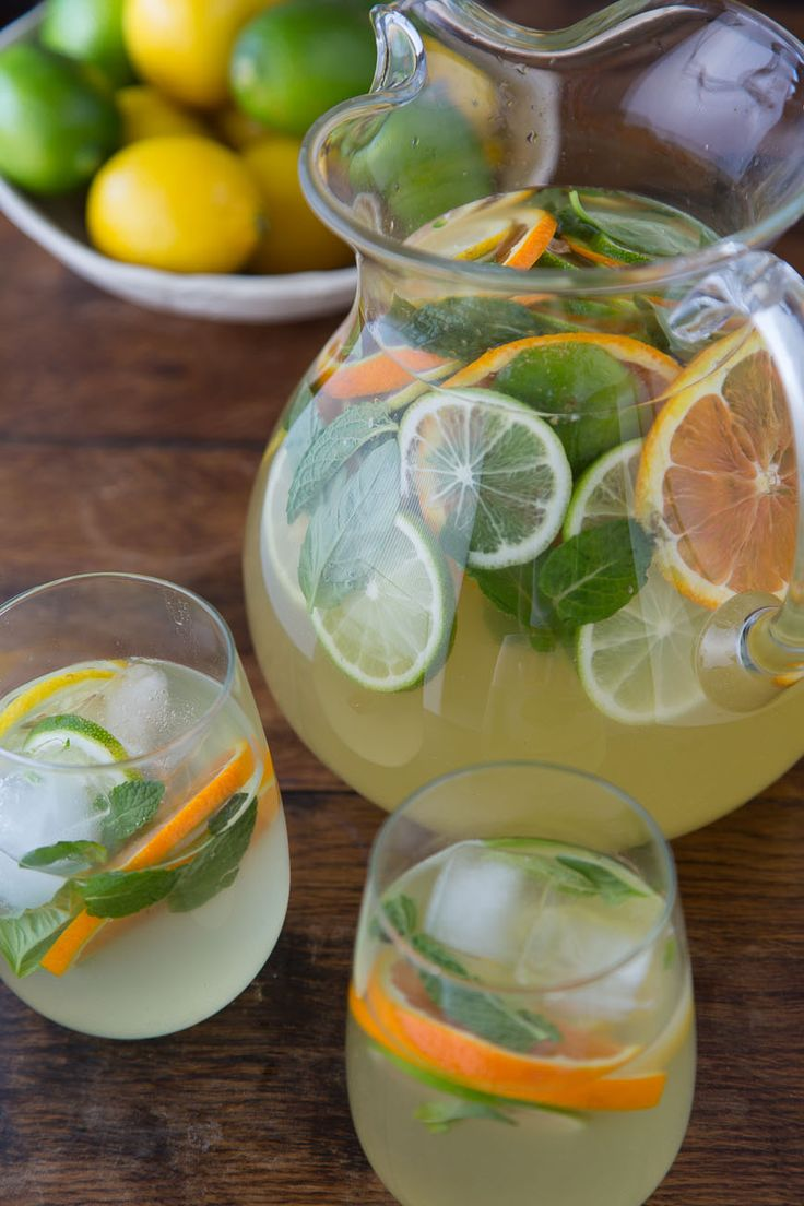 A simple recipe for a citrus pineapple sangria with lemons, limes and oranges! It's easy to make and perfect for spring or summer backyard events.