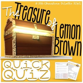 """The Treasure of Lemon Brown"" Quick Quiz   Dean o'gorman ..."
