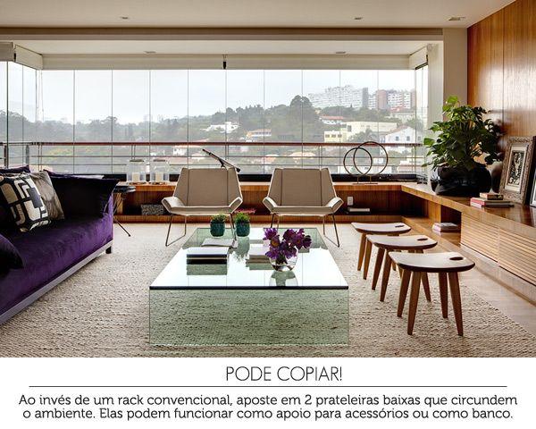 Living Room Sala De Estar ~ living room  sala de estar #decor #wood #sala