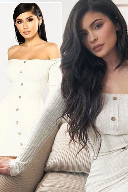 b62386dd Kylie Jenner Fashion Nova dress: Kim Kardashians sister trades in designer  for 20.99 high street dress heres where you can buy your own