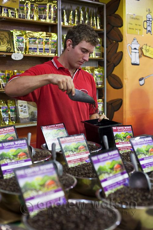 Coffee stall at Rusty's Markets. Cairns, Queensland, Australia. Photo: Andrew Watson