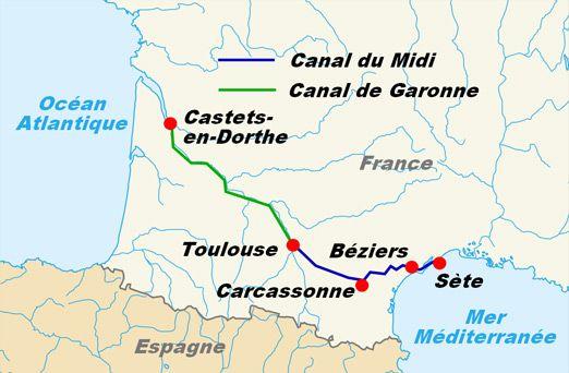 Canal de Garonne and Canal du Midi