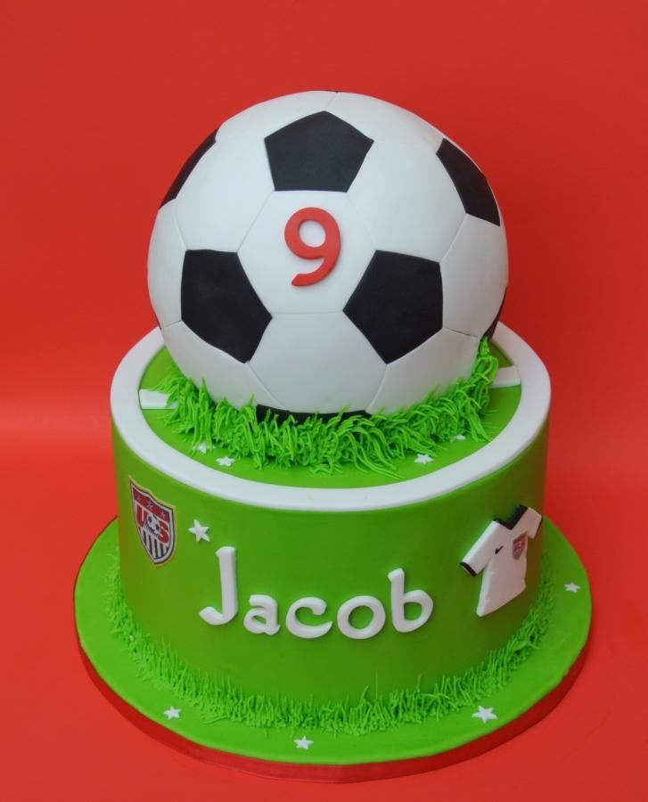 soccer cake - Cake by eunicecakedesigns