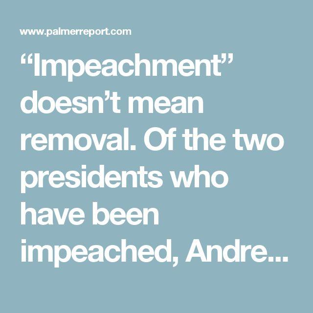 clinton/Nixon Impeachment