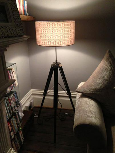 Dancing beetle shade on a customer's tripod base - perfect!