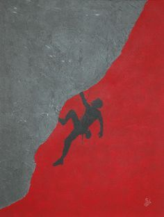 XL Acryl Leinwand Bild Silberstreif ART Kunst Wandbild Abstrakt Klettern Berg