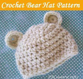 PACountryCrafts: Crochet Bear Hat Pattern
