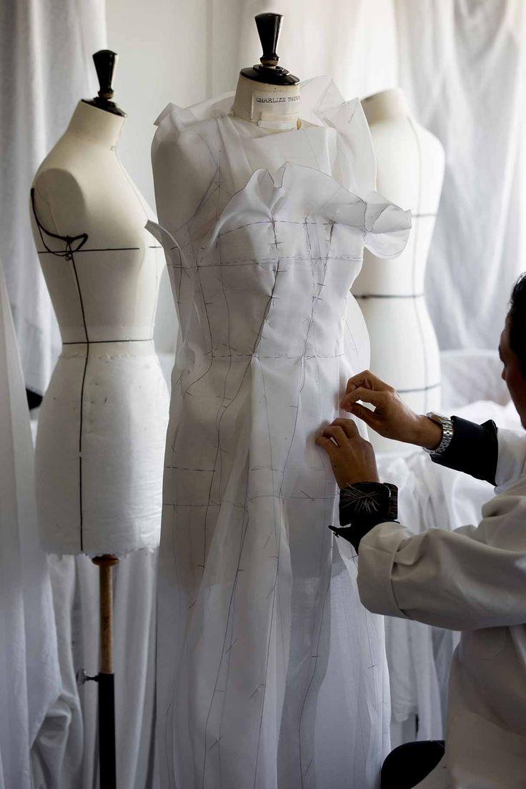 Focus sur la robe haute couture portée lundi soir