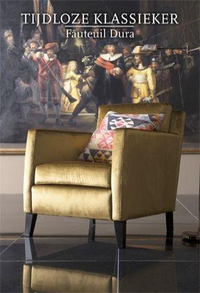 Moderne kleurencombinatie bij deze tijdloze Dura fauteuil @ Eijerkamp