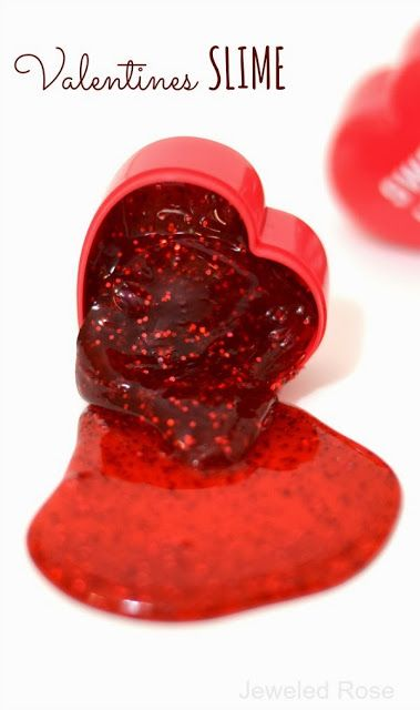 Valentines Slime Recipe--It's a fun favor for kids to give out at school or a party.