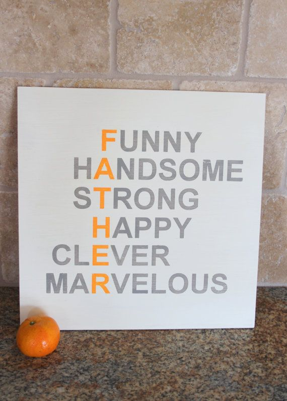 FATHER  Hand painted sign for Dad by AVAandLIAM on Etsy, $32.00