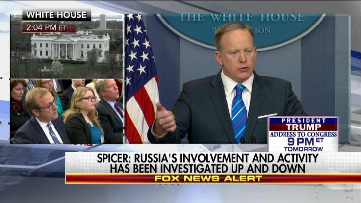 White House Press Secretary Sean Spicer pushed back this afternoon on the calls for an independent investigation into President Donald Trump's alleged contact with Russian officials.