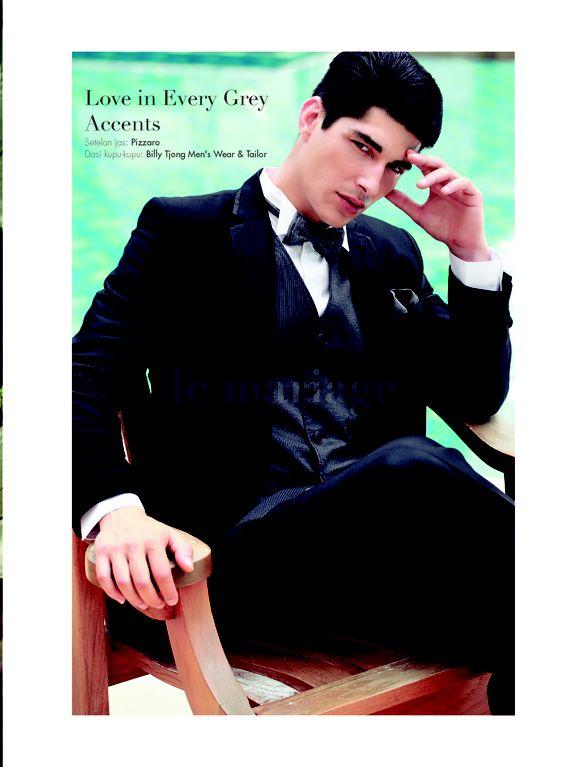 Be Man Enough. Photographer: Glenn Prasetya. Photographer Assistant: Nugroho Adi Santoso. Make Up & Hair Do: IBEL Make up Pro. Stylist: Geofanny Tambunan. Model: Anderson (Damn-Inc). Location: Pool & Garden, Four Seasons Hotel Jakarta. Suit: Pizzaro. Bow Tie: Billy Tjong Mn's Wear & Tailor. #LeMariage #Magazine #Indonesia #Suit #Groom #StylePeer
