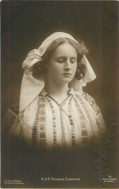 Princess Elisabeth of Romania, later Queen of the Hellenes.