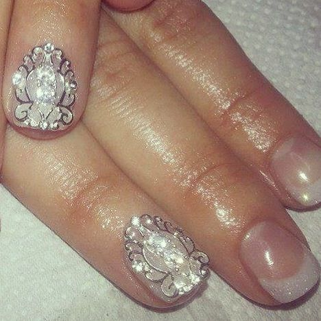 """""""Stay Classy"""" Nail Veils available on our website www.nailcandi.co.za The ONLY reusable nail art available! #3DNailArt #NailArtCharms"""