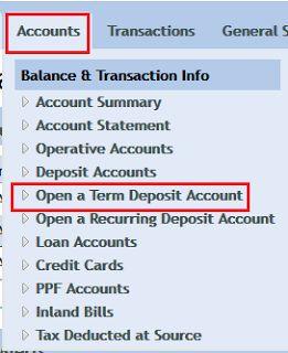Article on how to open Online Fixed Deposit (FD) In Vijaya Bank using Net Banking