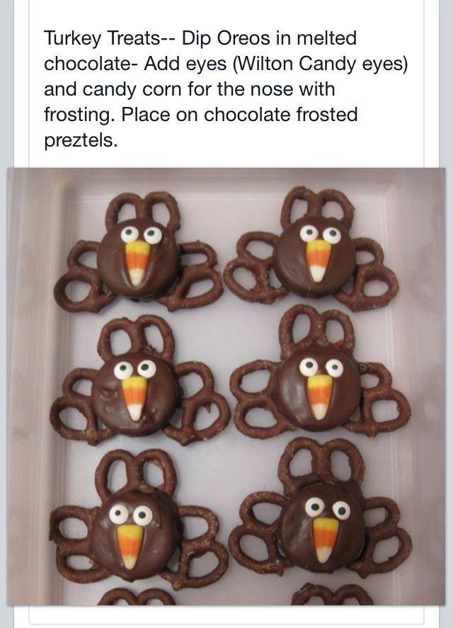 Cookie Thanksgiving Turkey treats (MADE 11/27/13)
