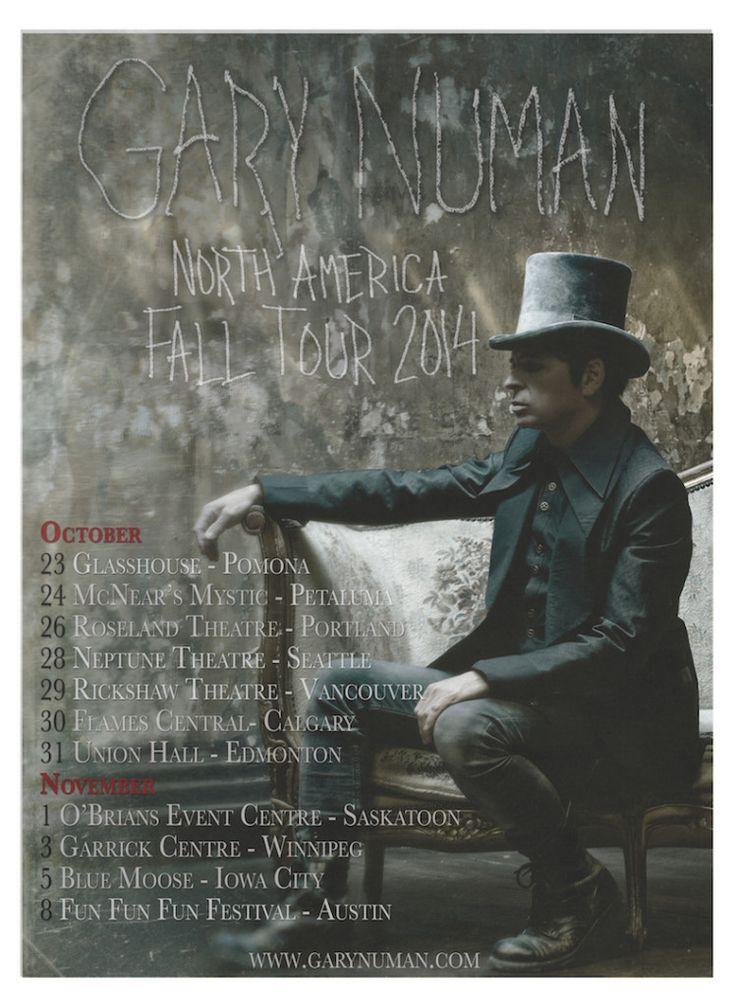 Gary Numan announces North American tour dates