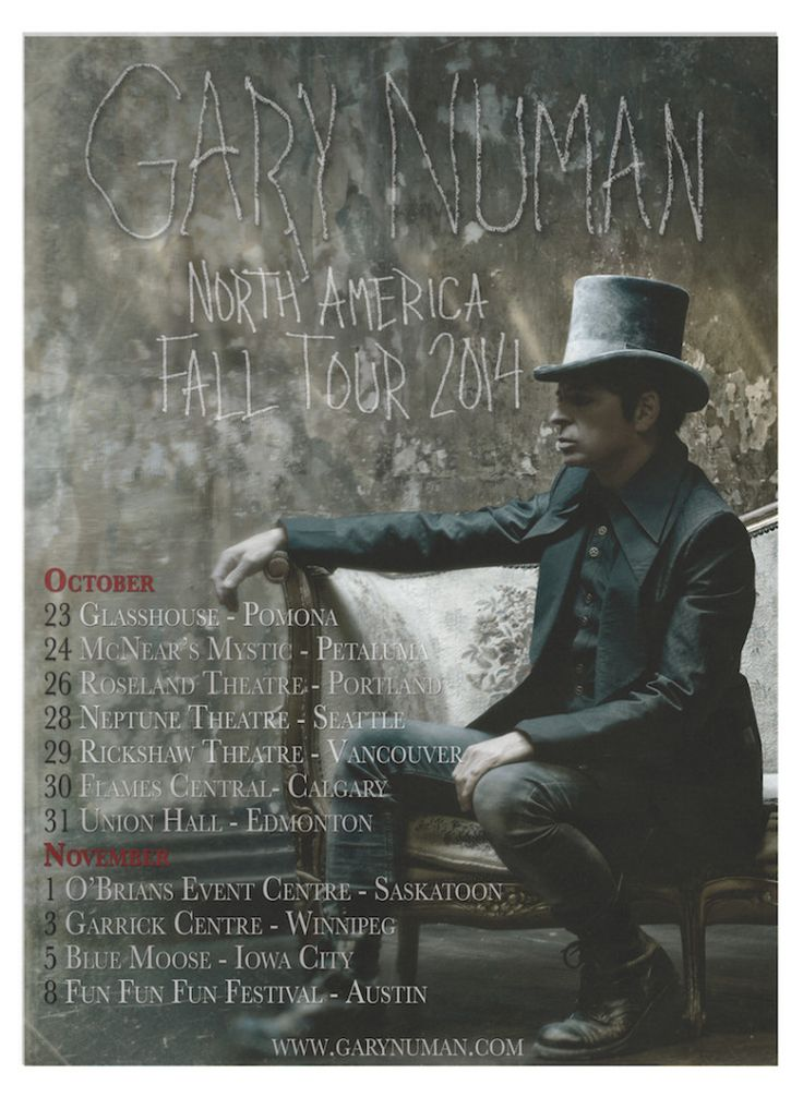 Gary Numan announces North American tour dates