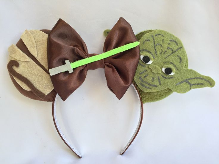 Yoda Themed Mouse Ears by TheAvengears on Etsy…
