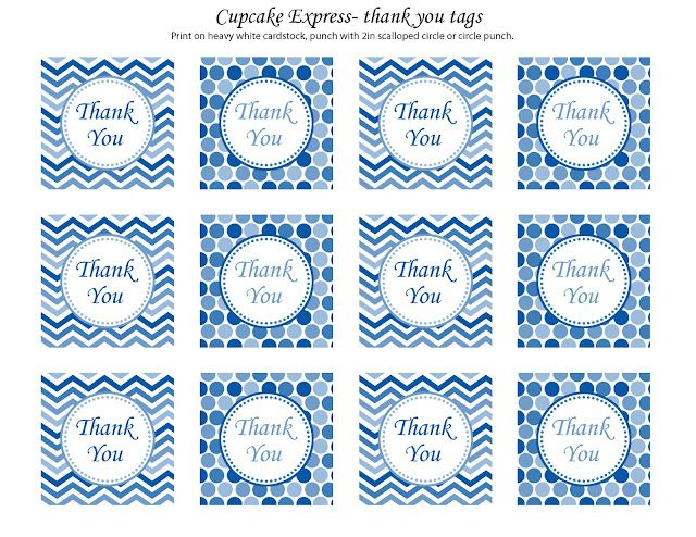 free printable thank you cards can be made into tags or circles