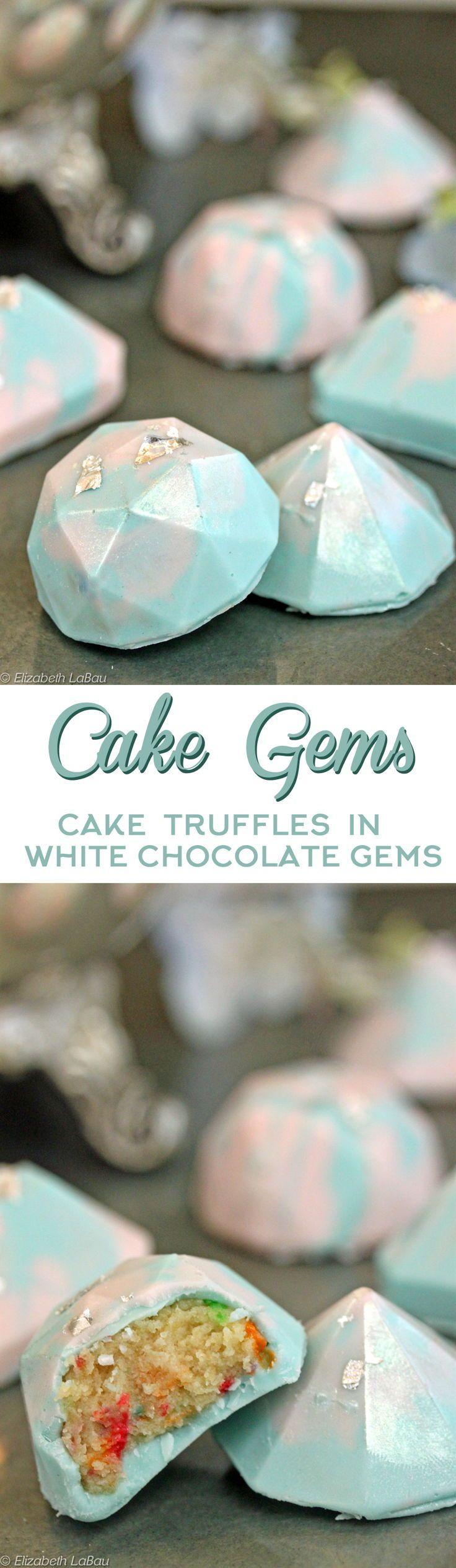Cake Gems - the latest trend in cake truffles! Learn how to make these gorgeous gem-shaped candies, filled with cake! | From candy.about.com