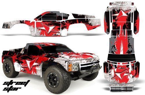 Chevy Silverado 1500-PRO LINE-Traxxas Slash-PRO3307-60-AMRRACING-RC Graphics Kit-Street Star-Red by AMRRACING. $39.95. 98% Body coverage. AMR RC Kits very Easy to install.. Listing includes graphics kit only, body not included.. AMR Racing RC kits are made from Thick Motocross quality vinyl. Graphics kit it new in sealed manufactures packing.. AMR Racing RC kits are made from Thick Motocross quality vinyl. Please don't confuse these with cheap, paper thin kits manufactured by ...