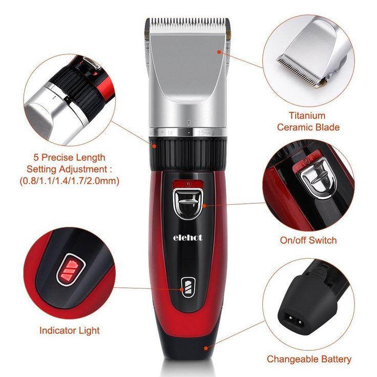 Mens Cordless Hair Trimmer Beard Clipper Rechargeable Safe Easy Grooming Kit Set #ELEH #Custom