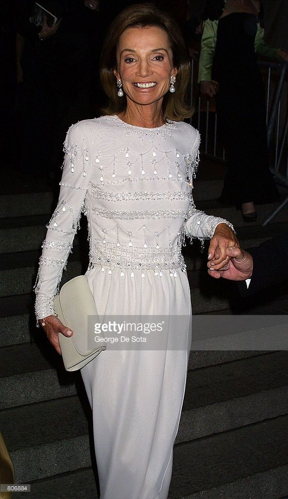 Lee Radziwell, sisiter of Jacqueline Kennedy, attends The Costume Institute Gala to celebrate the clothes of Jacqueline Kennedy April 23, 2001 at the Metropolitan Museum of Art in New York City.