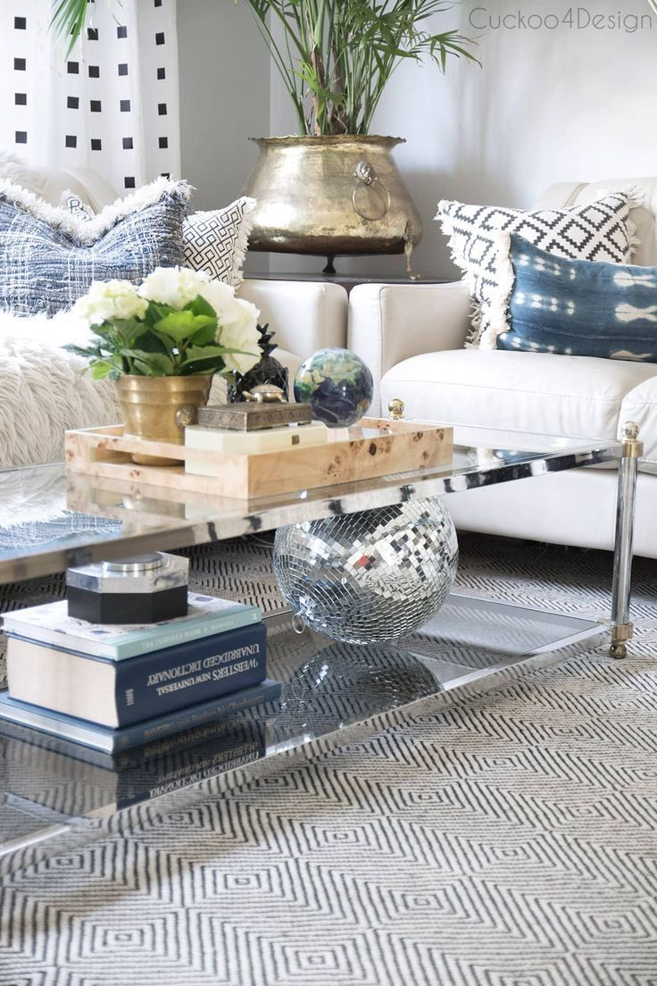How To Style A Two Tier Coffee Table Cuckoo4design Table Decor Living Room Decorating Coffee Tables Tiled Coffee Table #two #coffee #tables #living #room