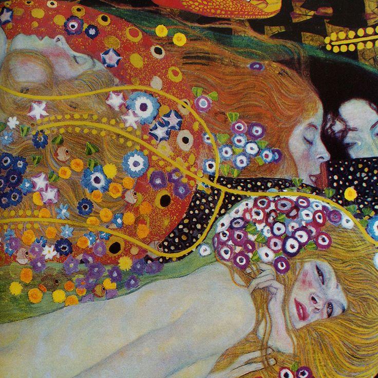 Water Serpents II (detail) by Gustav Klimt | Lone Quixote
