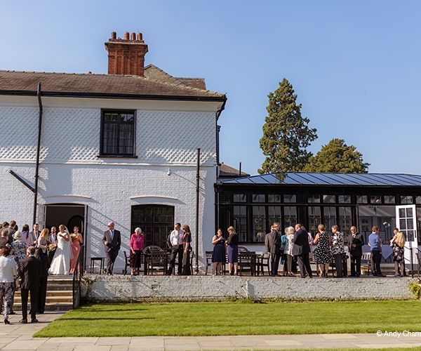 A drinks reception at Swynford Manor in Cambridgeshire | CHWV