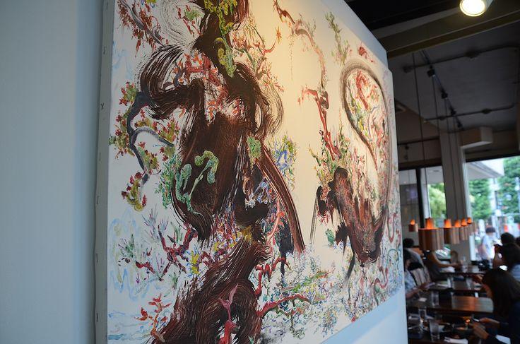 Mitsuru Ando at Tokyo Wonder Site Cafe, Shibuya (2015).