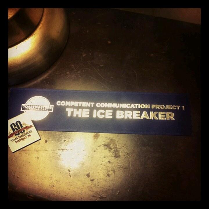 toastmasters speech breaker icebreaker