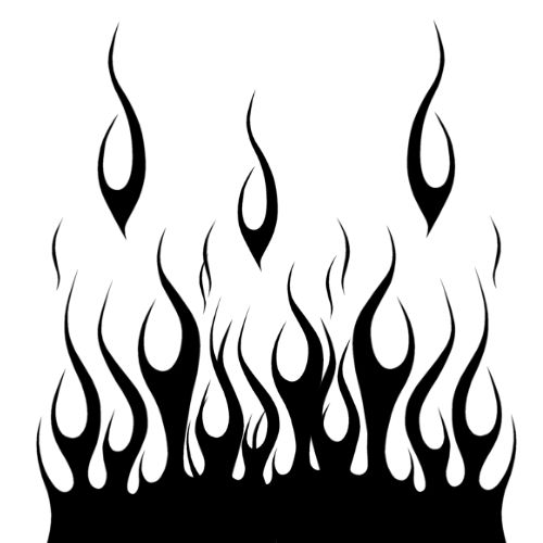 19 best flame tattoo stencils images on pinterest flame for Black and white flame tattoo