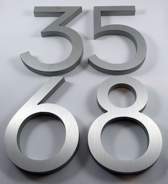 Modern black metal house numbers for Black metal house letters