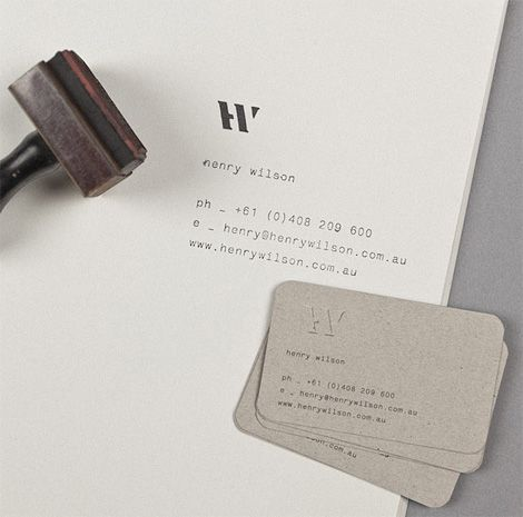 Identity for Henry Wilson    I love everything about this. Need to look into diy/stamping more for identities.