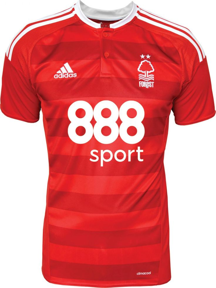 The Nottingham Forest 16-17 home kit introduces a smart design in red and white, made by Adidas.