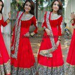 Sonia in Red Floor Length Anarkali