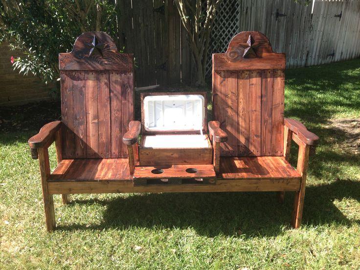 texasoutbackfurniture.com Cedar cooler bench for two