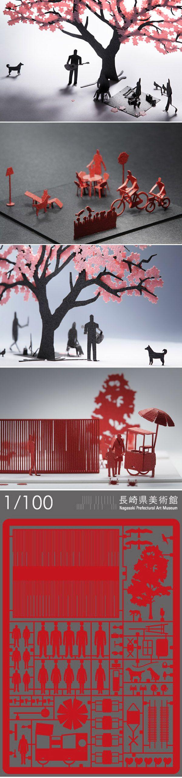 1/100 ARCHITECTURAL MODEL ACCESSORIES SERIES ( http://www.teradamokei.jp/en/ )
