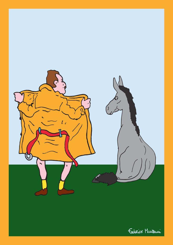"Donkey ""Tino"" observes the LIFE 3 by Federico Monzani"