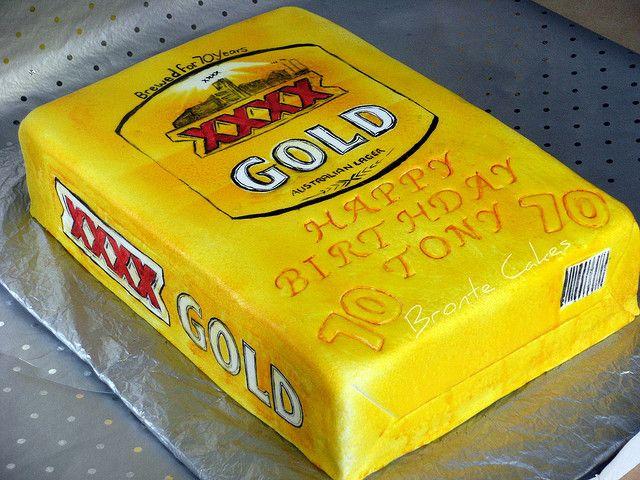 Xxxx Gold Beer Carton Cake Cakepins Com 70th Cake