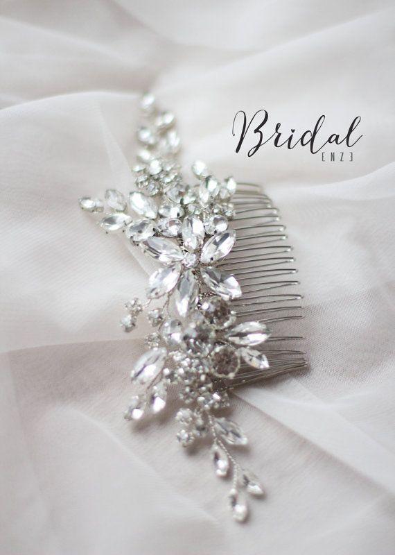 Braut Haar Kamm Braut Kopf Stück Hochzeit von EnzeBridal auf Etsy