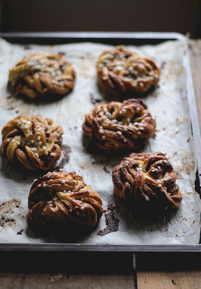 Swedish cinnamon & cardamom spelled buns