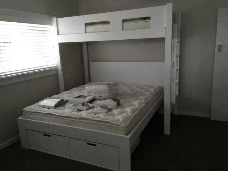Urban City Loft Bed under King size bed  with drawers .
