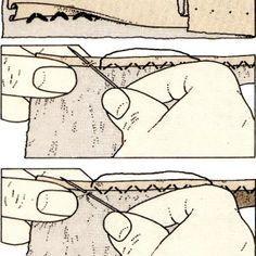 Costura a mano, Costura invisible de dobladillo