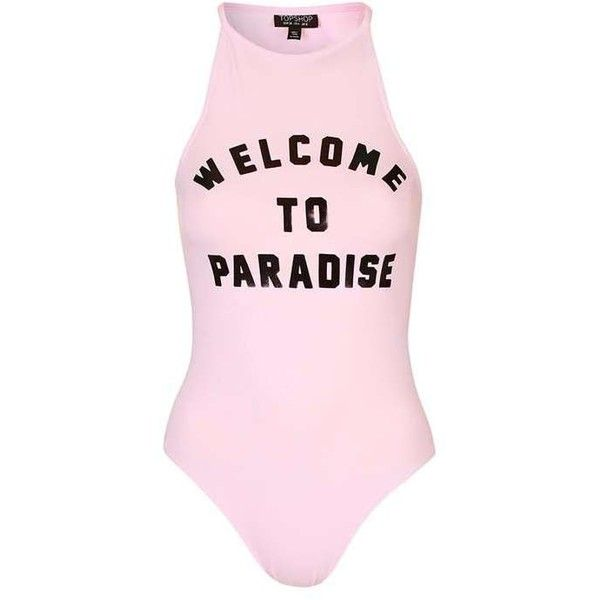 TopShop Paradise Foil Body ($27) ❤ liked on Polyvore featuring tops, topshop, holographic top, racer back tops, racerback top and pink top