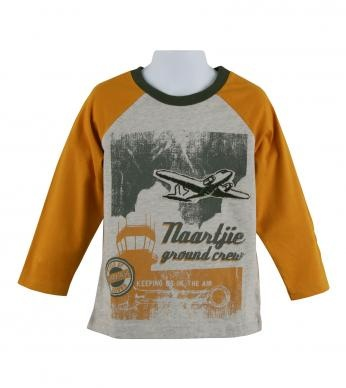 100% cotton knit solid color tee with contrast color raglan long sleeves, ribbed neck, front 'naartjie ground crew' & sky print graphics and front embroidered airplane graphic applique. Machine washable. Imported.: Solid Colors, Color Tees, Raglan Tee, Color Raglan, Contrast Color