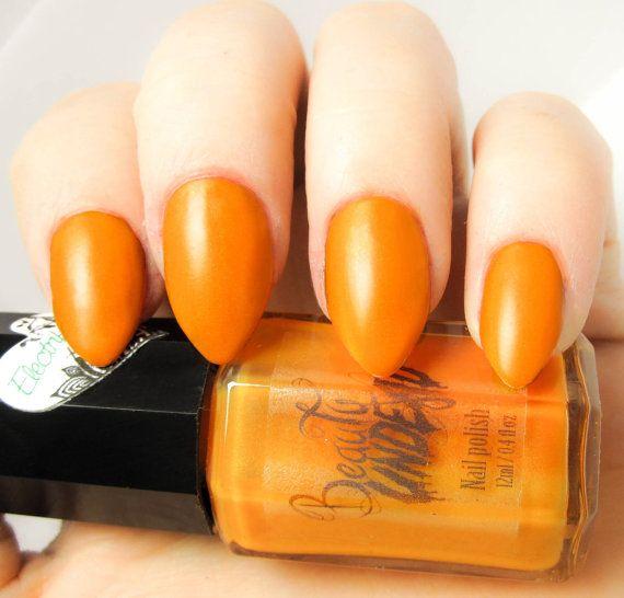 Best 20+ Orange Nail Polish Ideas On Pinterest